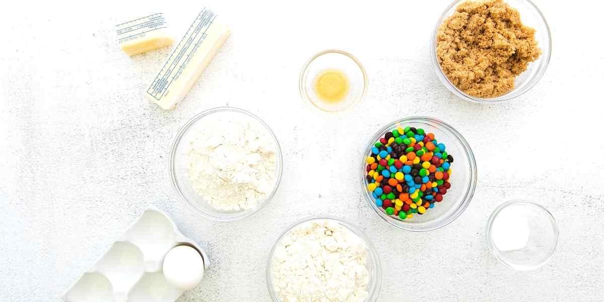 Monster M&M Candy Cookies Ingredients