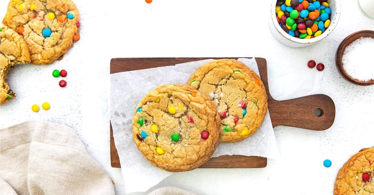 Monster M&M Candy Cookies