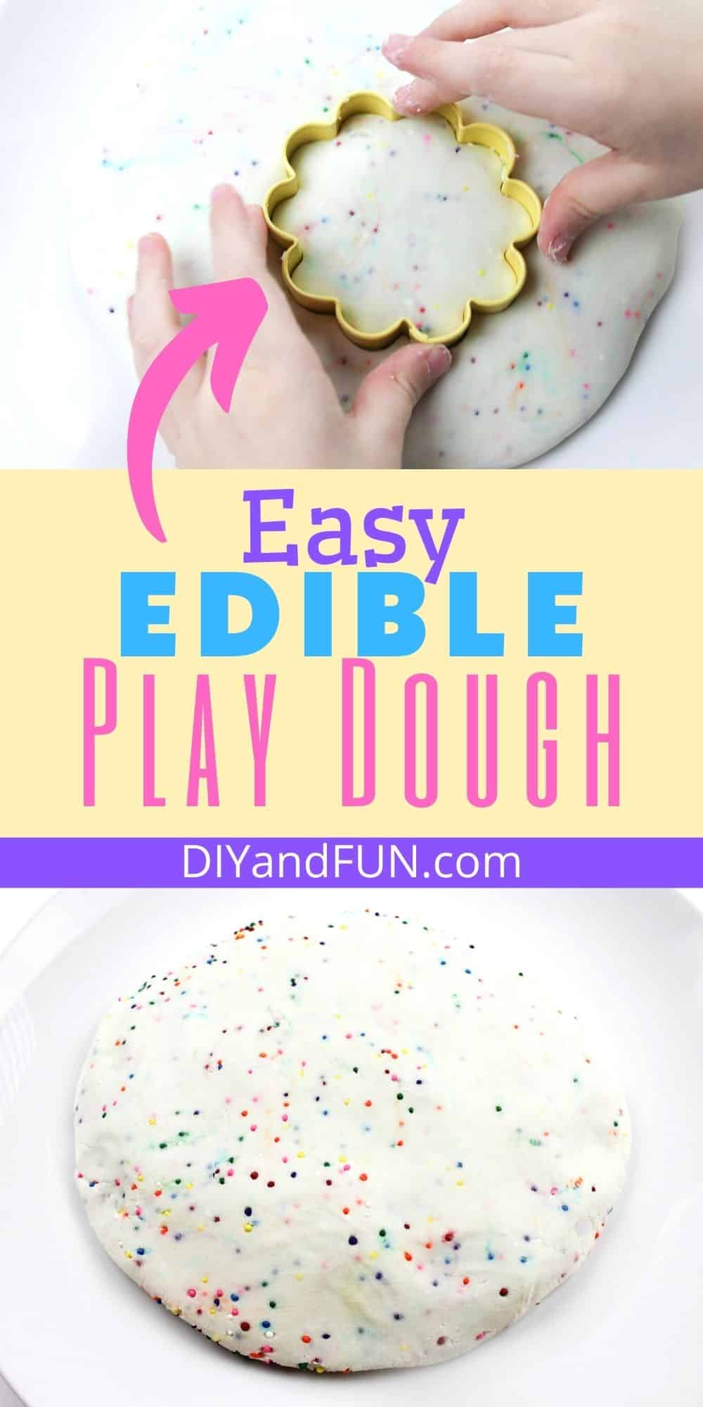 How to Make Edible Play Dough, a simple and tasty recipe for playdough that kids and parents can create with and enjoy.