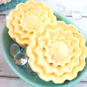 Homemade Lemon Cocoa Butter Soap