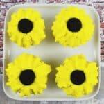 Easy Sunflower Cupcakes