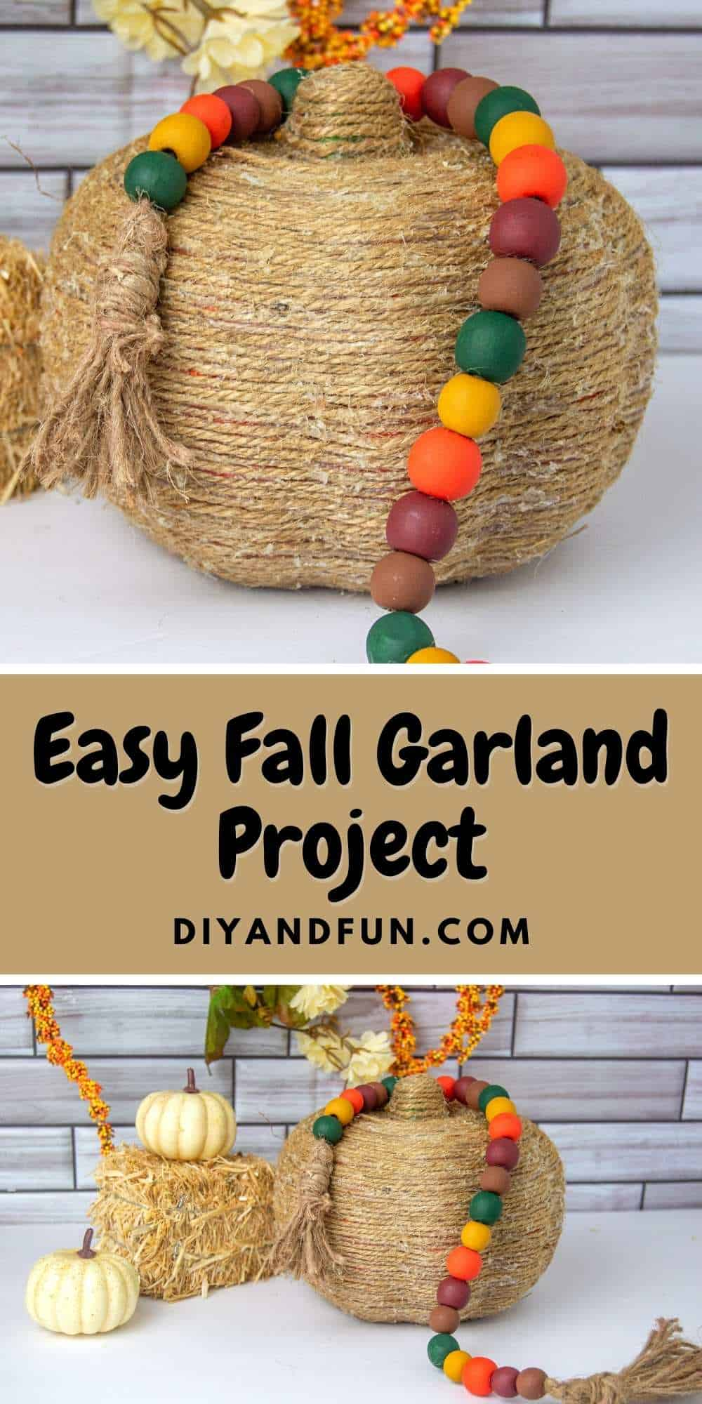 Easy Fall Garland Project