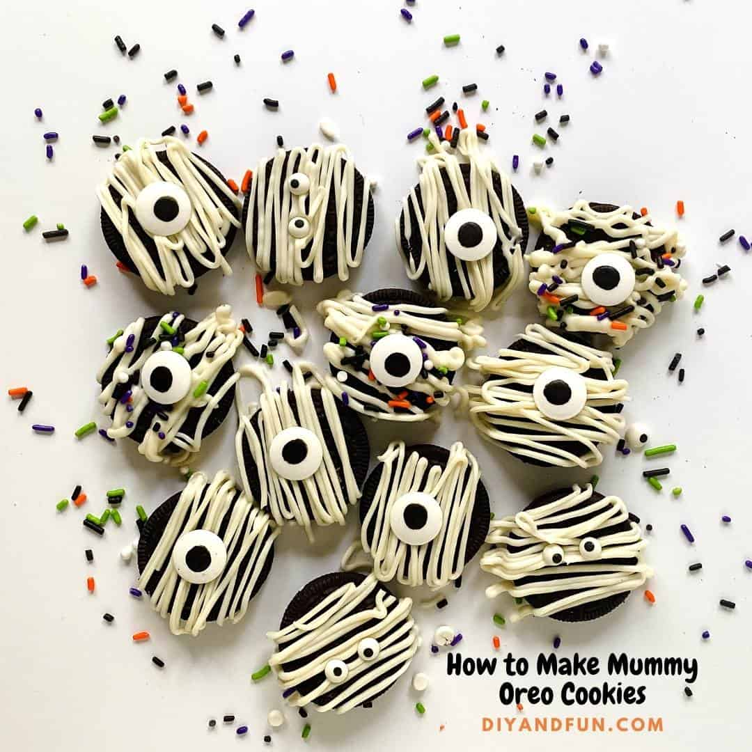 How to make Mummy Oreo Cookies