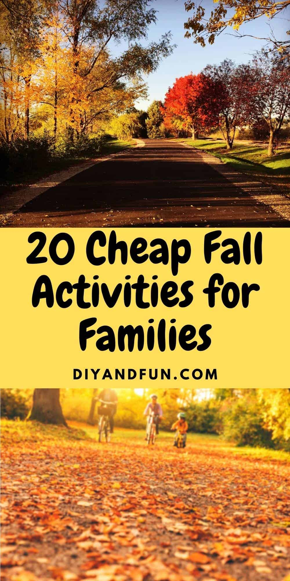 20 Cheap Fall Activities for Families that kids and parents can enjoy together. Includes a free download checklist.
