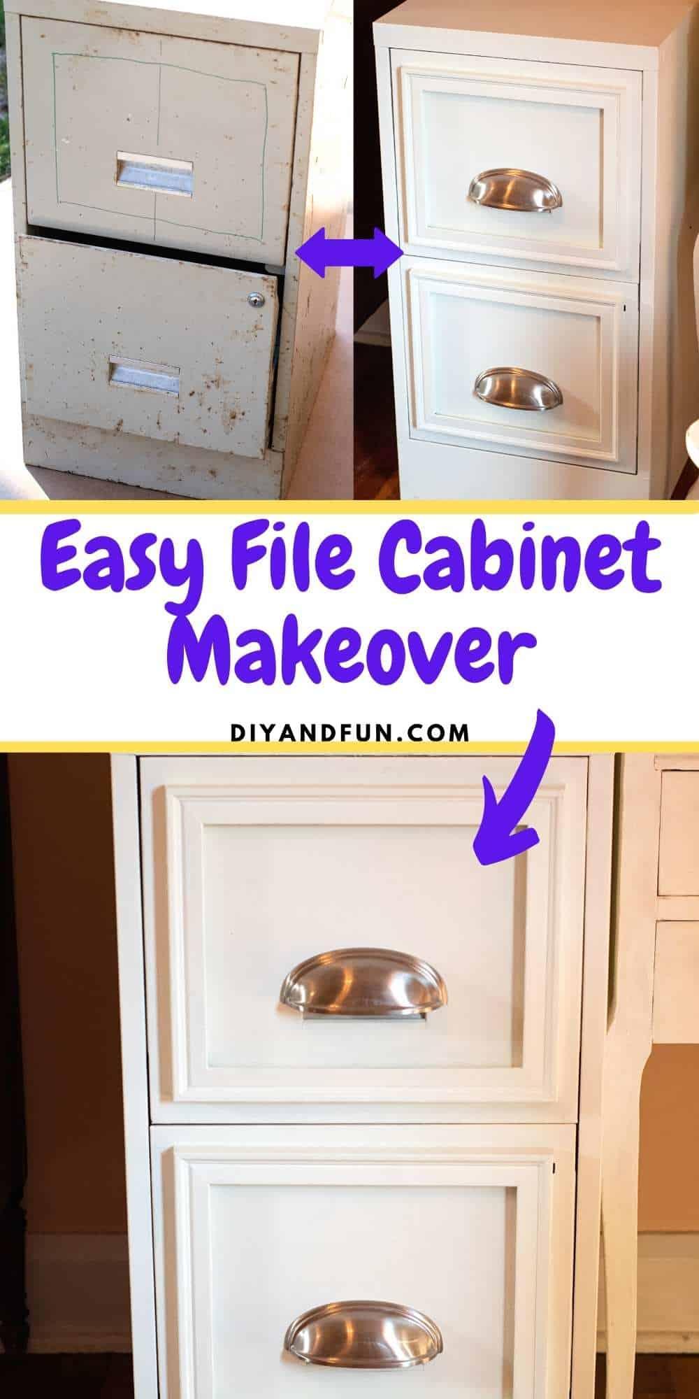Easy File Cabinet Makeover
