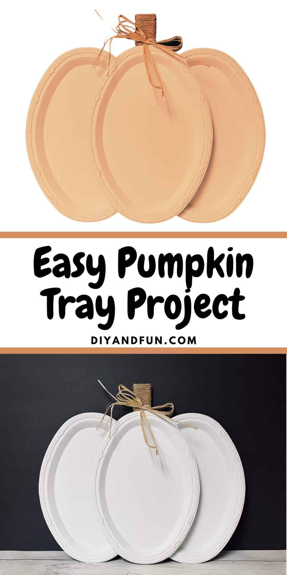 Easy Pumpkin Tray Project