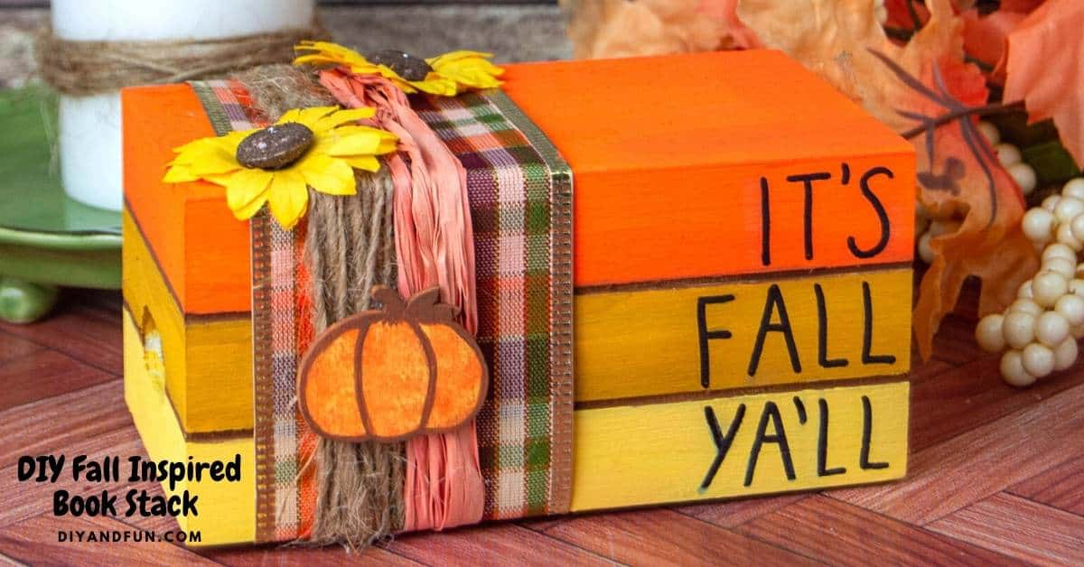 DIY Fall Book Stack Project