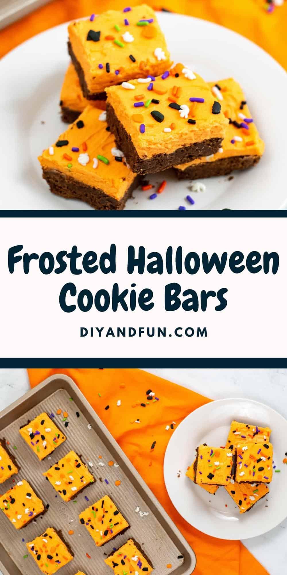 Easy Halloween Cookie Bars