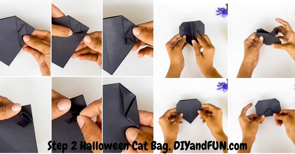 How to make a Halloween Origami Bag