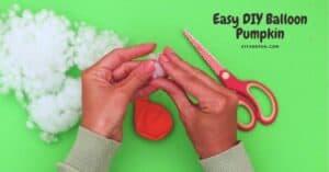How to make a Balloon Pumpkin