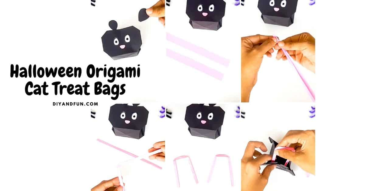 Halloween Origami Cat Treat Bags
