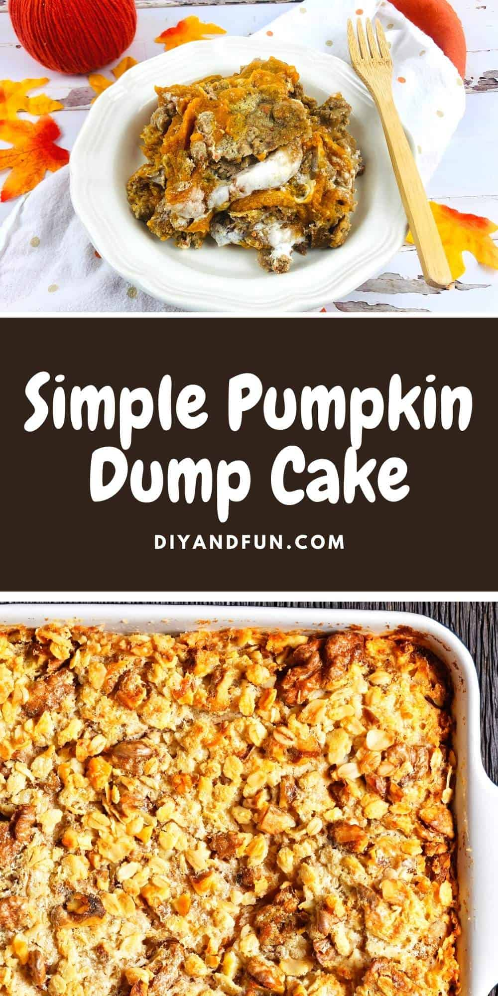 Easiest Pumpkin Dump Cake