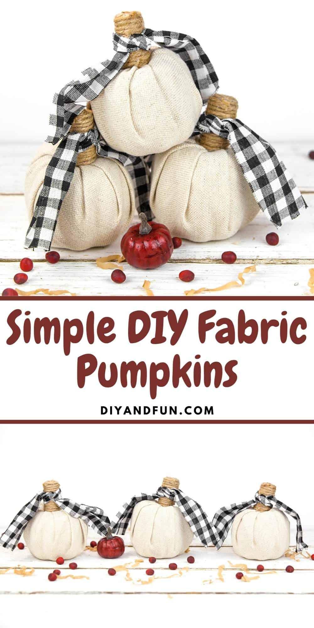 Simple DIY Fabric Pumpkin