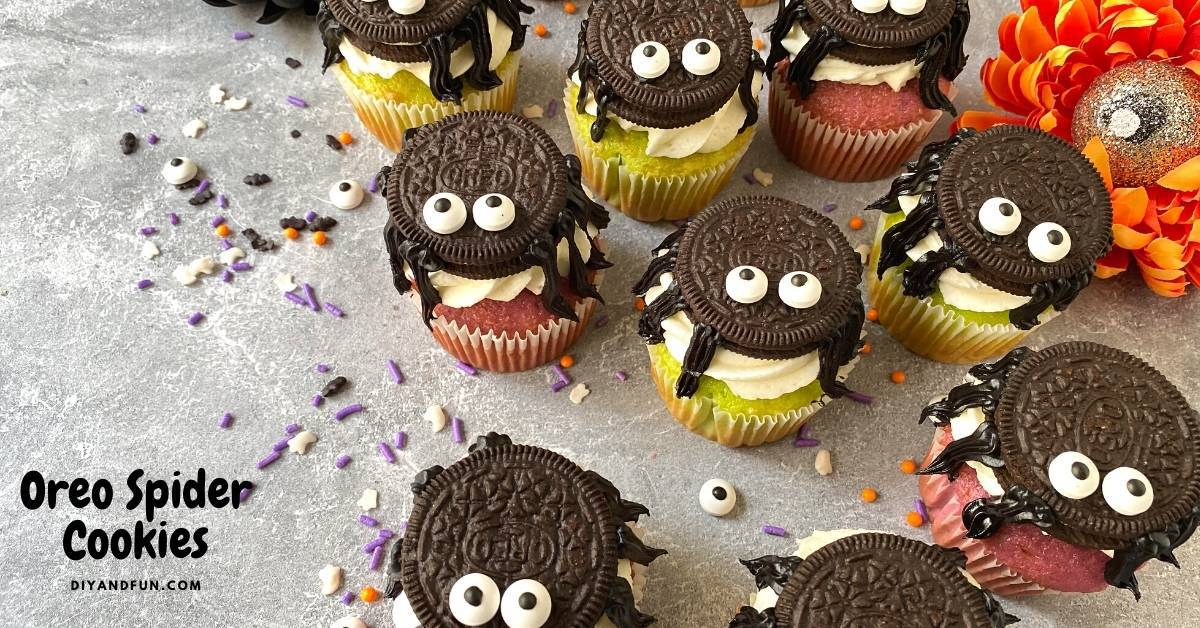 Oreo Spider Cookie Cupcakes