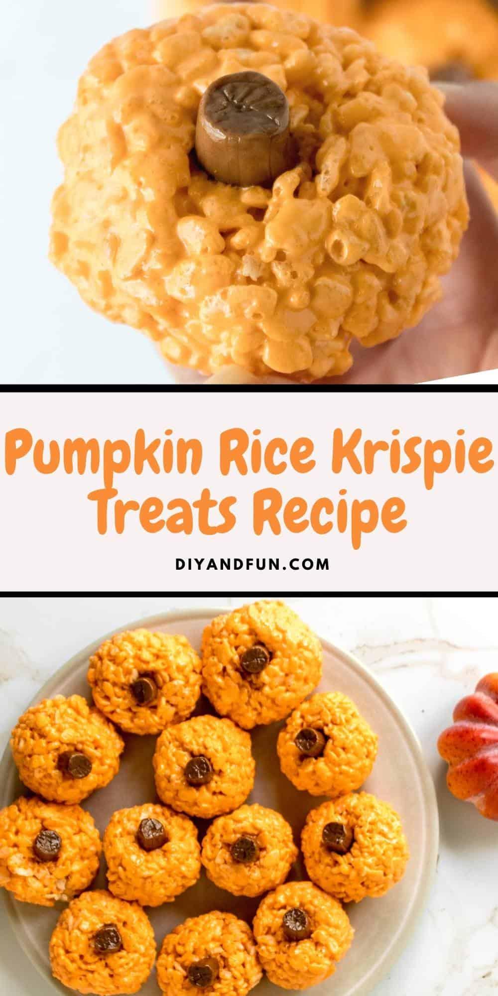Pumpkin Rice Krispie Treats Recipe