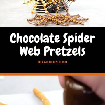 Chocolate Spider Web Pretzels