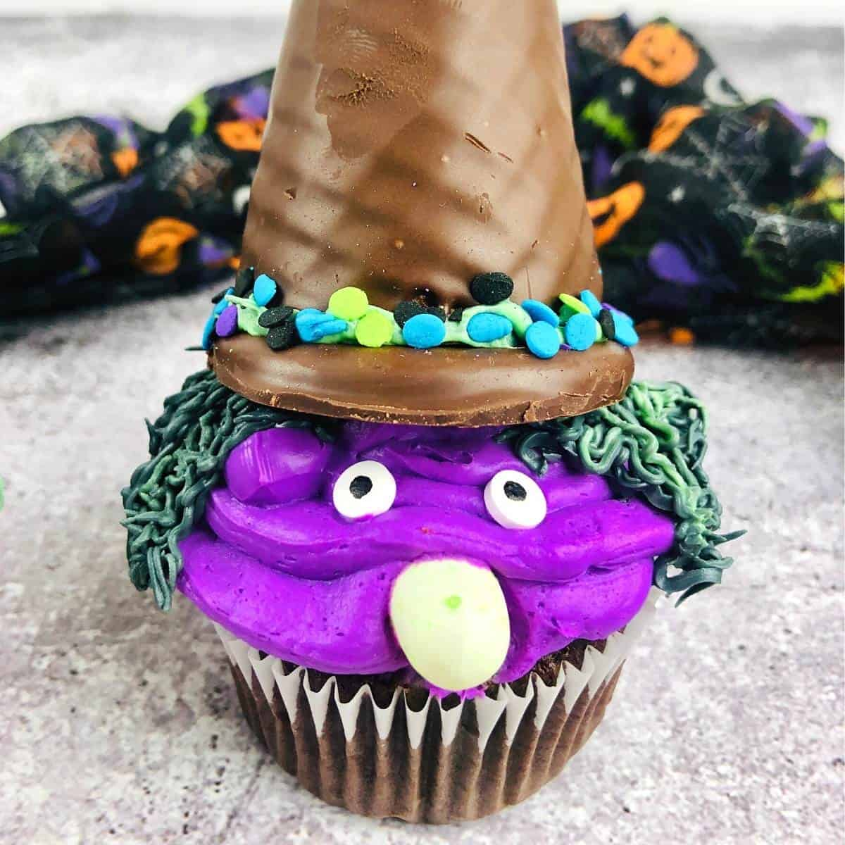 Easiest Ever Halloween Witch Cupcakes
