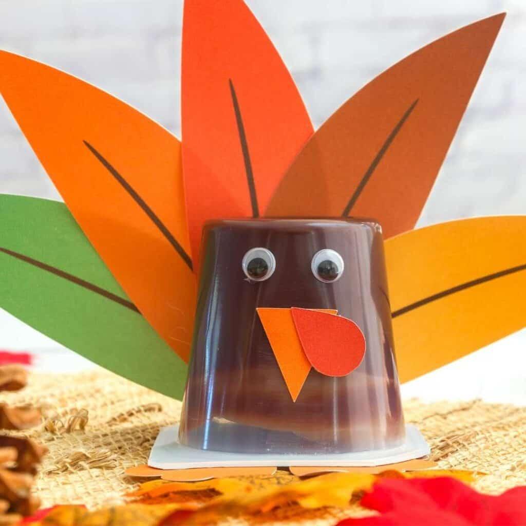 DIY Pudding Cup Turkey